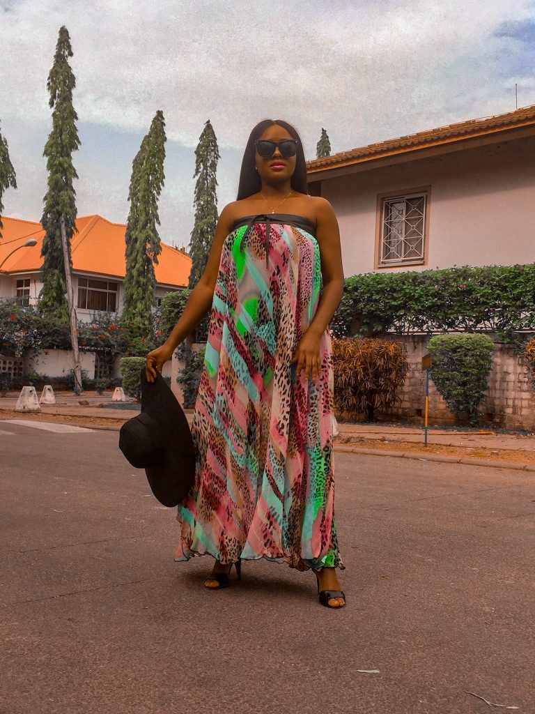 how to style a full length illusion wrap dress in 3 ways